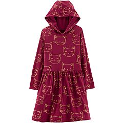 Girls 4-12 Carter's Hooded Cat Dress