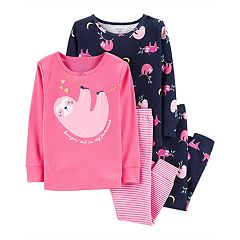 Toddler Girl Carter's Sloth Tops & Bottoms Pajama Set