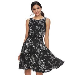 Women's ELLE™ Floral Fit & Flare Dress