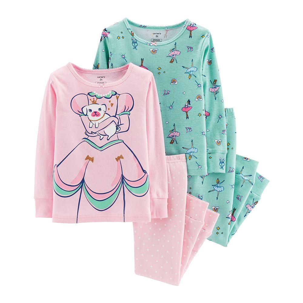 Toddler Girl Carter's Princess & Ballerina Tops & Bottoms Pajama Set