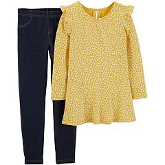 Girls 4-8 Carter's Floral Tunic & Jeggings Set