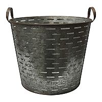 SONOMA Goods for Life™ Decorative Farmhouse Metal Bucket