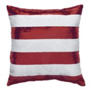 Americana Stars & Stripes Color-Shifting Sequins Throw Pillow