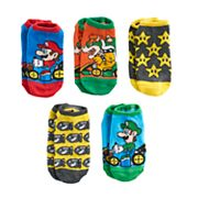 Boys 4-20 Super Mario Bros. 5-Pack No-Show Socks