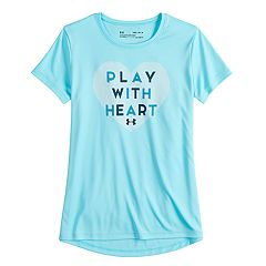 Girls 7-16 Under Armour 'Play With Heart' Short Sleeve Tee