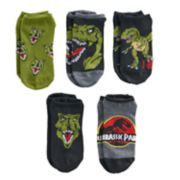 Boys 4-20 Jurassic World 5-Pack No-Show Socks