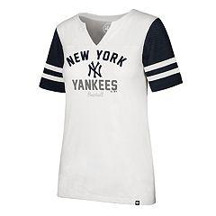 Women's '47 Brand New York Yankees Takeover Sleeve Stripe Tee