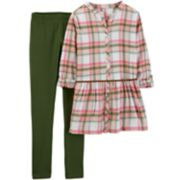 Girls 4-8 Carter's Plaid Tunic & Leggings Set