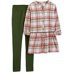 Girls 4-8 Carter's Plaid Tunic & Leggings Set