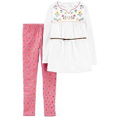 Girls 4-8 Carter's Floral Top & Leggings Set