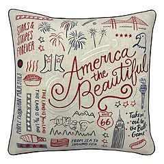Americana ''America the Beautiful'' Throw Pillow