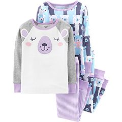 Toddler Girl Carter's Bear Tops & Bottoms Pajama Set
