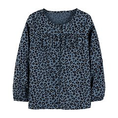 Girls 4-12 Carter's Cheetah Ruffled Shirt