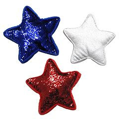Americana Stars Color-Shifting Sequins 3-piece Throw Pillow Set