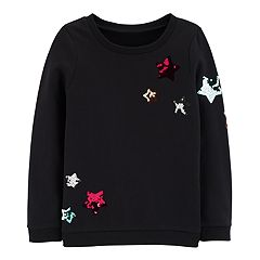 Girls 4-12 Carter's Sequined Star French Terry Pullover