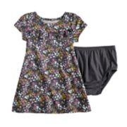 Baby Girl Jumping Beans® Print Ruffled Dress
