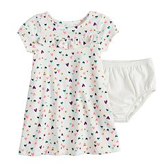 Baby Girl Jumping Beans® Print Ruffled Dress