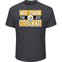 Men's Pittsburgh Steelers 2017 AFC North Division Champions Line of Scrimmage Tee