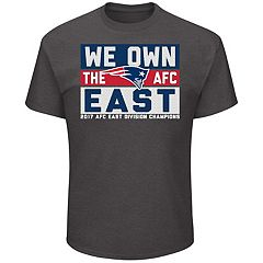 Men's New England Patriots 2017 AFC East Division Champions Line of Scrimmage Tee