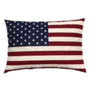 Americana Oversize Flag Oblong Throw Pillow
