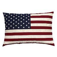 Americana Oversize Flag Oblong Throw Pillow