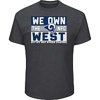 Men's Los Angeles Rams 2017 NFC West Division Champions Line of Scrimmage Tee