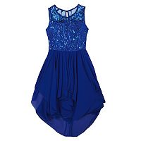 Girls 7-16 IZ Amy Byer Sleeveless Sequined Bodice High-Low Hem Dress
