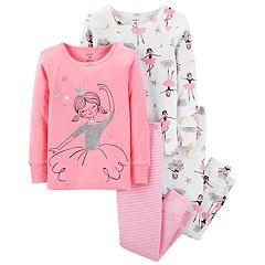 Baby Girl Carter's Glitter Ballerina Tops & Bottoms Pajama Set
