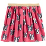 Girls 4-12 Carter's French Bulldog Skirt