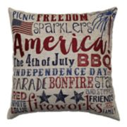 Americana Words Script Throw Pillow