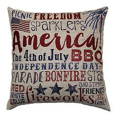 Americana Words Script Throw Pillow