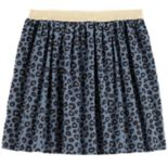Girls 4-12 Carter's Cheetah Shirred Skirt