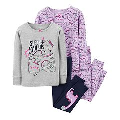 Baby Girl Carter's Dinosaur Tops & Bottoms Pajama Set