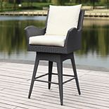 Safavieh Indoor / Outdoor Cushioned Swivel Counter Stool