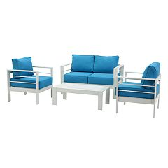 Safavieh Indoor / Outdoor Arm Chair, Loveseat & Coffee Table 4-piece Set