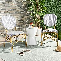 Safavieh Indoor / Outdoor Herringbone Stacking Bistro Chair 2 pc Set