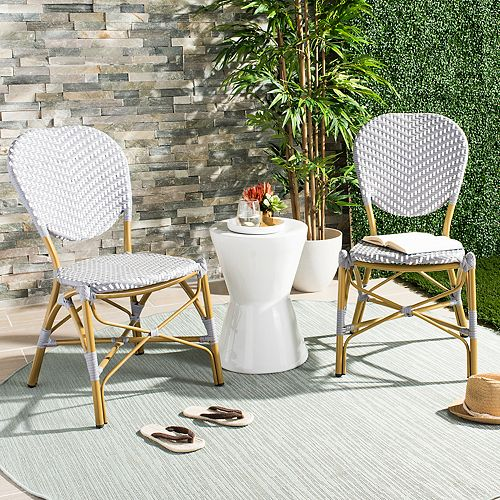 Pleasant Safavieh Indoor Outdoor Herringbone Stacking Bistro Chair Gmtry Best Dining Table And Chair Ideas Images Gmtryco