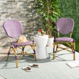 Safavieh Indoor / Outdoor Herringbone Stacking Bistro Chair 2-piece Set
