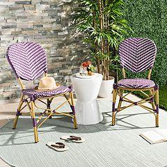 Safavieh Indoor / Outdoor Herringbone Stacking Bistro Chair 2 pc Set