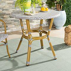 Safavieh Round Wicker Top Indoor / Outdoor Bistro Table