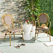 Safavieh Indoor / Outdoor Bistro Arm Chair 2 pc Set