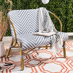 Safavieh Herringbone Indoor / Outdoor Wicker Loveseat