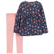 Baby Girl Carter's Floral Henley & Leggings Set