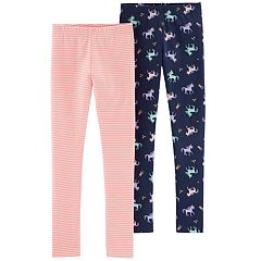 Girls 4-12 Carter's 2-pack Unicorn & Striped Leggings