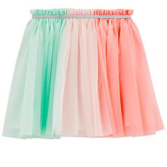 Girls 4-12 Carter's Colorblock Tulle Skirt