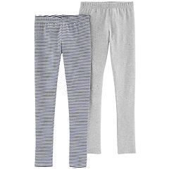 Girls 4-12 Carter's 2-pack Lurex Striped & Glittery Leggings