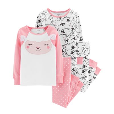Baby Girl Carter's Sheep Tops & Bottoms Pajama Set