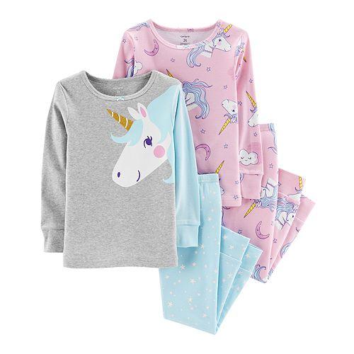 d8d82fdf40965 Baby Girl Carter s Unicorn Tops   Bottoms Pajama Set