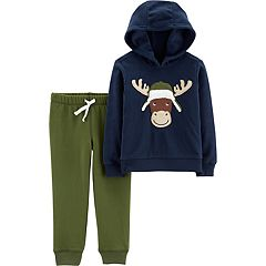 Baby Boy Carter's Moose Pullover Hoodie & Jogger Pants Set