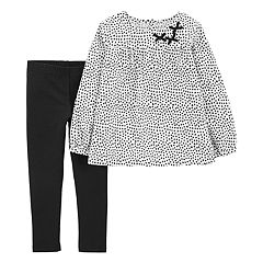 Toddler Girl Carter's Heart Top & Leggings Set